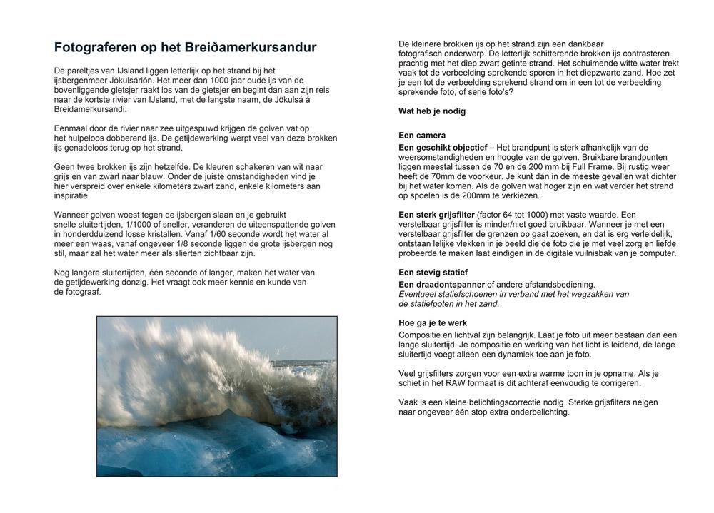Fotograferen op IJsland - het Breidamerkursandur