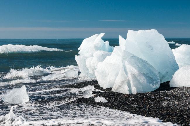 Aan het ijsbergenmeer