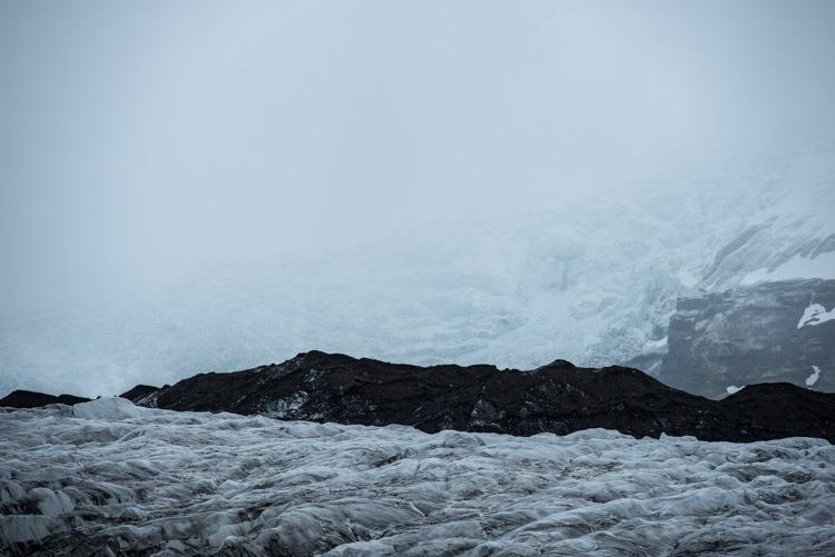 Aardverschuiving op de gletsjer