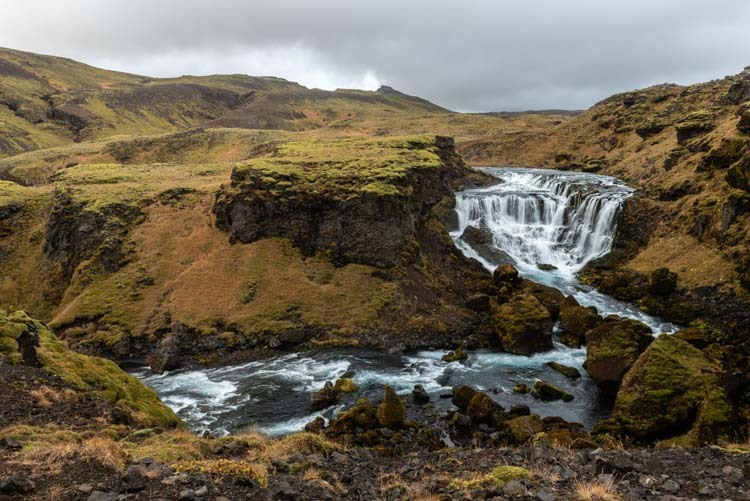 Canyon van de watervallen