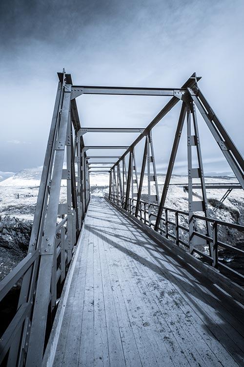 Bridge at Godafoss infrared