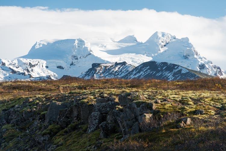 Uitzicht op de gletsjer