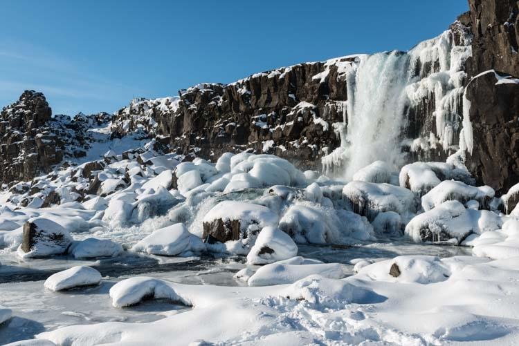 Öxarárfoss bij Þingvellir