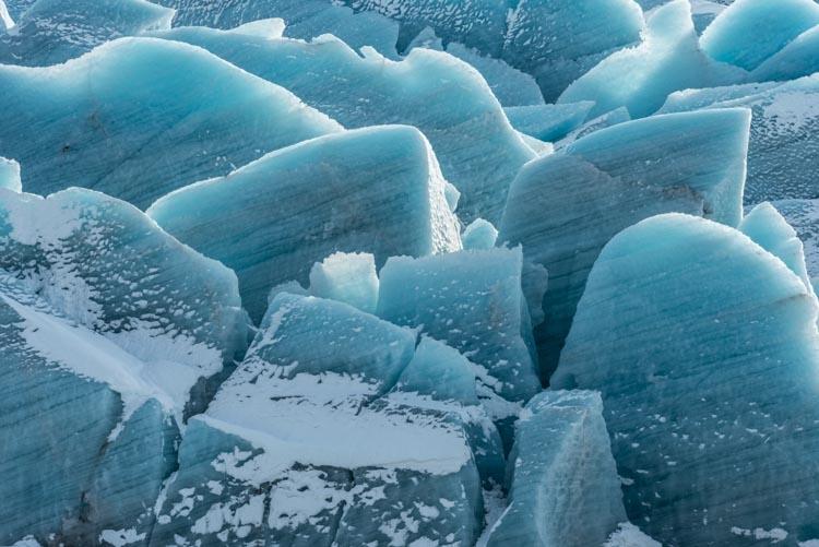 IJsformaties bij Svinafelljökull