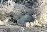Woeste golven bij Jökulsárlón