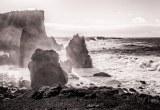 Mooie omstandigheden aan de kust van Reykjanesta