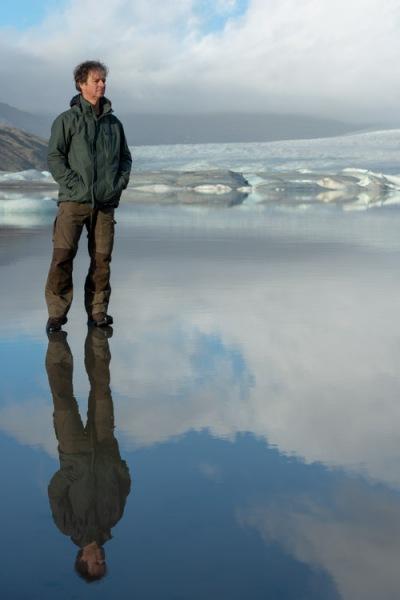 Gerry's zelfportret bij de Hoffelsjokull