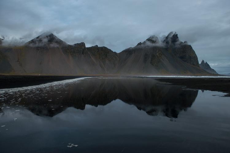 Vestrahorn met reflectie