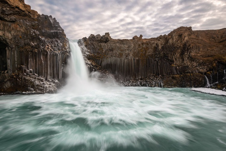 Wellicht de mooiste waterval van  IJsland,  de Aldeyjarfoss