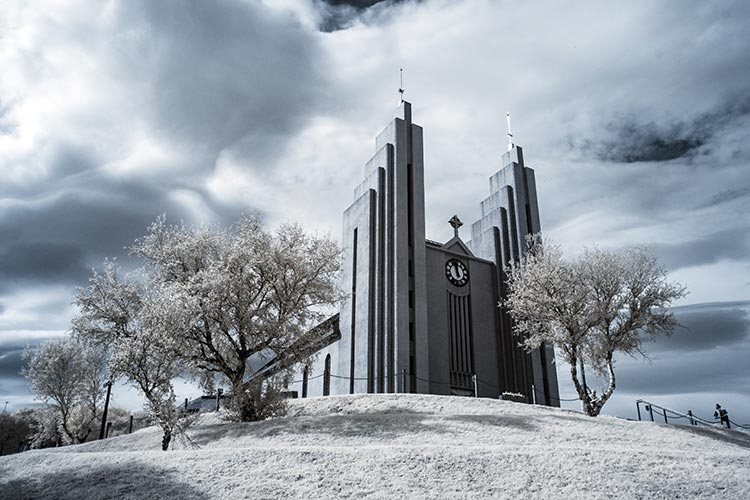Church of Akureyri infrared