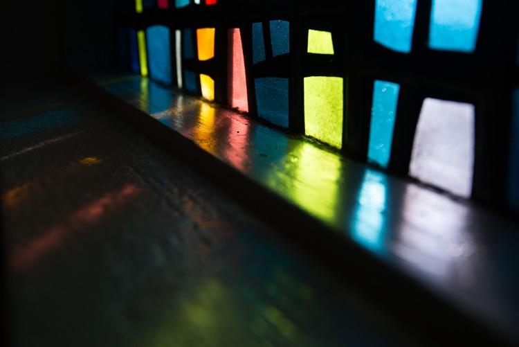 Glas in Lood in de kerk van Skalholt