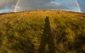 In de regenboog