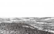 Uitzicht vanaf de hut op Langajökull